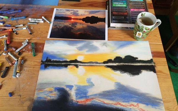 Výtvarný kurz Monetovy Lekníny a porcelánový hrneček5