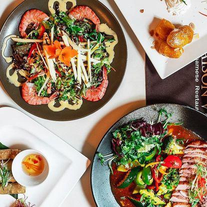 Vietnamské menu až pro 4 os.: závitky, nudle i ryby