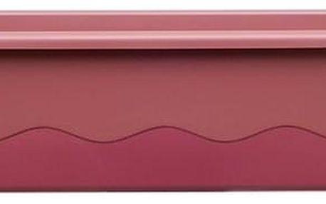 Plastia Samozavlažovací truhlík MARETA 17,5 x 60 x 19,5 cm růžová tm. + vínová