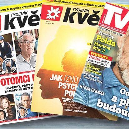 Předplatné týdeníku Květy včetně TV magazínu