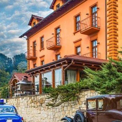 Jižní Čechy: Tábor v Hotelu Romantik Eleonora *** s konopnou koupelí Carun, sektem, překvapením a polopenzí