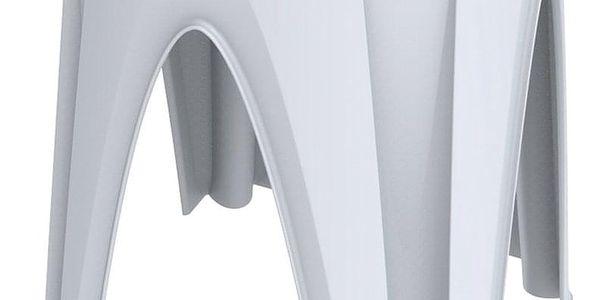Otočná stolička Girotondo bílá, 35 x 35 x 45,5 cm