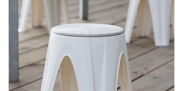 Otočná stolička Girotondo bílá, 35 x 35 x 45,5 cm4