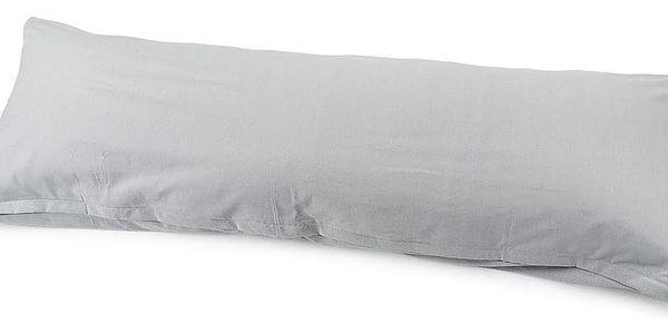 4Home Povlak na Relaxační polštář Náhradní manžel světle šedá, 45 x 120 cm2
