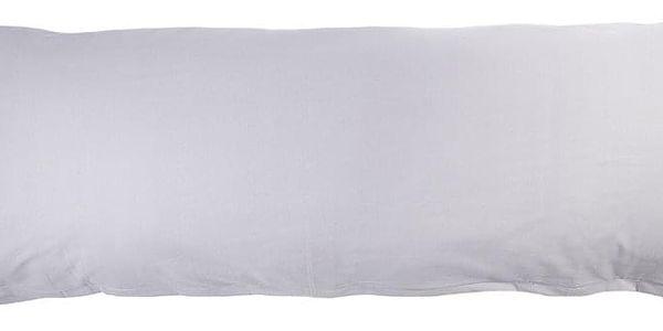 4Home Povlak na Relaxační polštář Náhradní manžel světle šedá, 45 x 120 cm