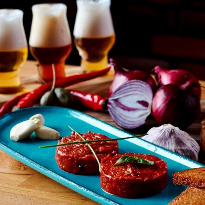 Variace tataráků a pivní prkénko pro 1 i 2 osoby