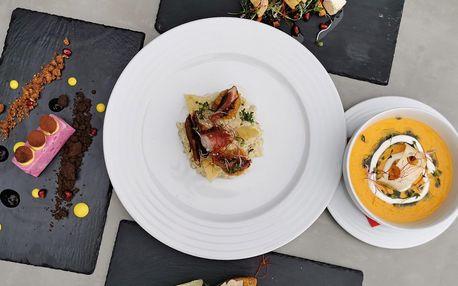 5chodové menu s hovězím či chobotnicí pro 2 osoby
