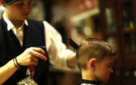 Dětský střih, mytí, foukaná i závěrečný styling