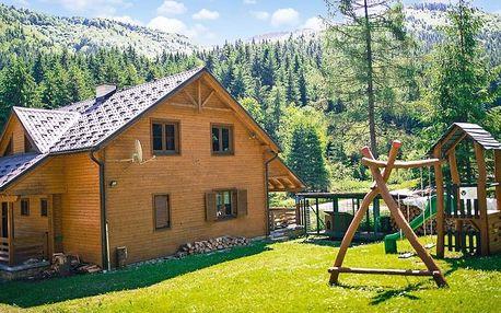 Kouzelný pobyt v dřevěné roubence až pro 12 osob