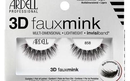 Ardell 3D Faux Mink 858 1 ks vícevrstvé umělé řasy pro ženy Black