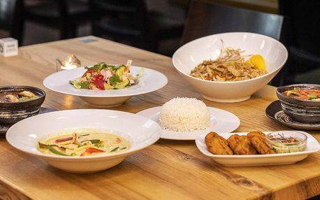 3chodové thajské menu pro 2 osoby v Orange Moon