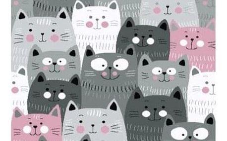 Vopi Kusový dětský koberec Kiddo 1079 pink, 160 x 230 cm