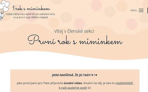 1 lekce kurzu První rok s miminkem + e-book o pláči4