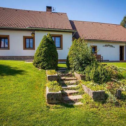 Dva apartmány či celá chata na Šumavě