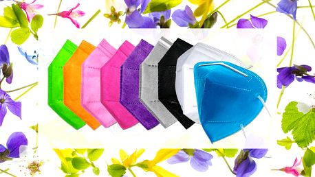 5ks respirátorů FFP2 nebo KN95 ve svěžích barvách