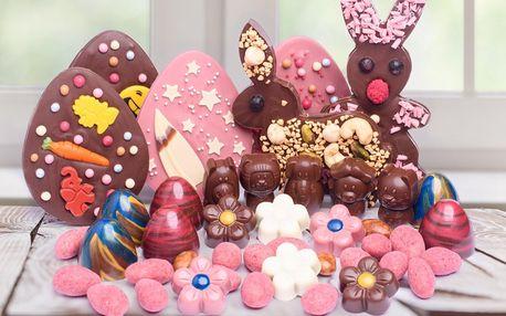 Velikonoční čokoládová nadílka: vajíčka i pralinky