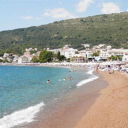 Černá Hora - Petrovac letecky na 8-15 dnů, snídaně v ceně