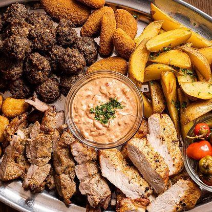 Ohnivý talíř: chilli papričky, kotleta i feferony