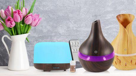 Aroma difuzéry, zvlhčovače vzduchu i vonné oleje