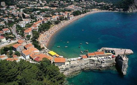 Černá Hora - Petrovac letecky na 8-15 dnů