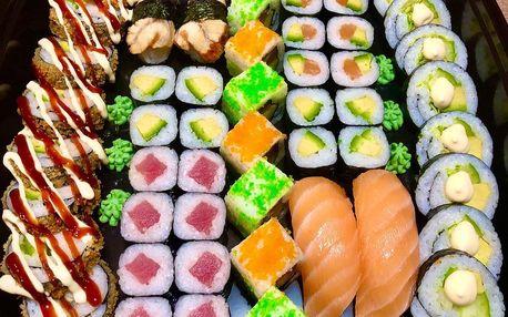 24–52 ks sushi: sety s lososem, krabem i vege
