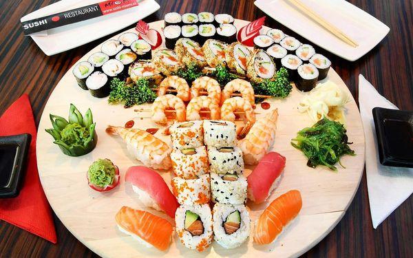 Sushi sety s 21–50 kousky: krevety, losos i tuňák