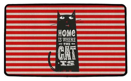 Butter Kings Vnitřní multifunkční rohožka Home with cat, 75 x 45 cm