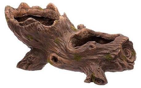 Obal na květináč ve tvaru kořene, MgO, 46 x 23 x 22 cm