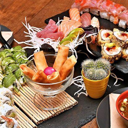 Sushi sety třeba i s wakame či závitky a polévkou