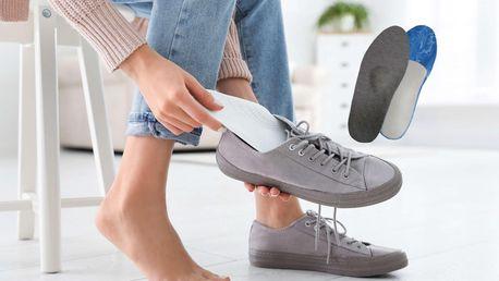 Protizápachové stélky do bot s podporu klenby