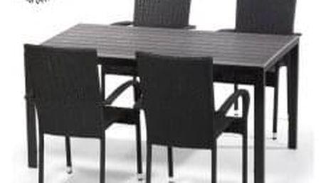 Jídelní set VIKING L + 4x židle PARIS