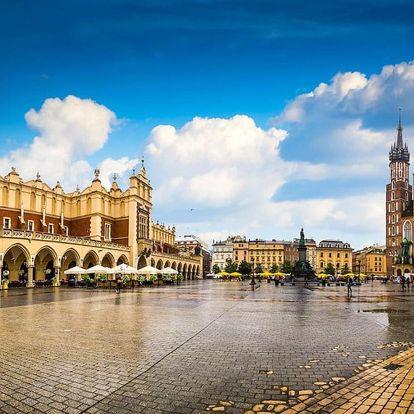 Skvělý pobyt v romantickém Krakově 3 dny / 2 noci, 2 osoby, snídaně