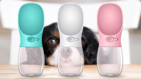 Cestovní láhev pro psy: bezpečnostní zámek, 3 barvy