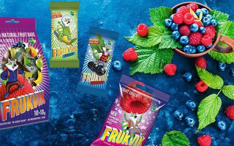 Zdravé svačinky Frukvik: ovocné tyčinky a kostičky