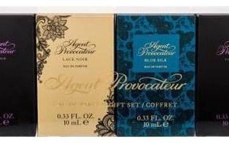 Agent Provocateur Gift Set dárková kazeta pro ženy parfémovaná voda Agent Provocateur 2x 10 ml + parfémovaná voda Lace Noir 10 ml + parfémovaná voda Blue Silk 10 ml miniatura