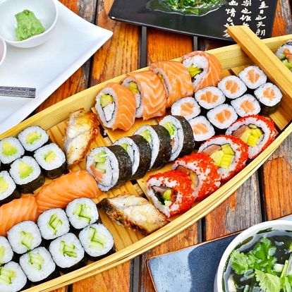 Sushi sety s sebou: 6 verzí o obsahu 24–71 kousků