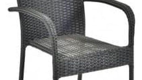 Ratanová židle PARIS antracit
