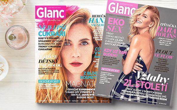 Roční předplatné časopisu Glanc s dárkem a doručením