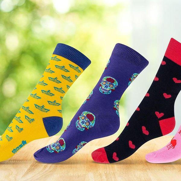 Vysoké barevné ponožky české výroby: 17 vzorů