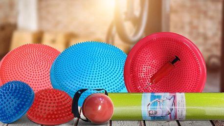 Balanční disky, podložky a další fitness pomůcky