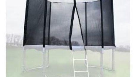 Ochranná síť na trampolínu 305 cm PE na 6 trubek- černá