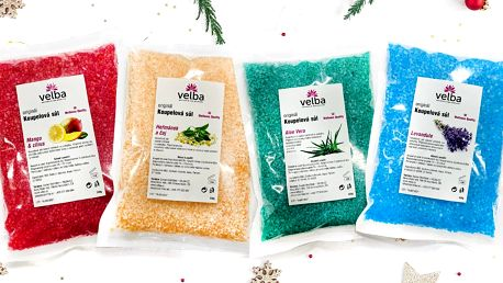 Wellness koupelové soli: set 6 či 8 druhů