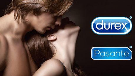 42–90 ks kondomů Durex a Pasante i s lubrikantem
