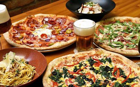 Pizza či těstoviny podle výběru pro jednoho i partu