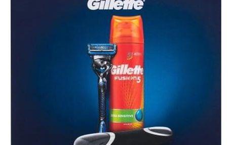 Gillette Fusion 5 Proshield Chill Flexball dárková kazeta pro muže holicí strojek s jednou hlavicí Fusion 5 Proshield Chill Flexball1 ks + pěna na holení Fusion 5 Ultra Sensitive 200 ml + cestovní pouzdro