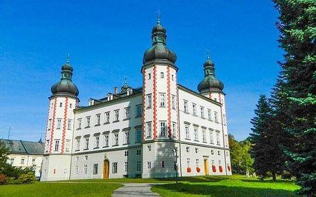 Krkonoše: Pobyt naproti krásnému zámku Vrchlabí v Hotelu Labuť *** s polopenzí a láhví Bohemia sektu