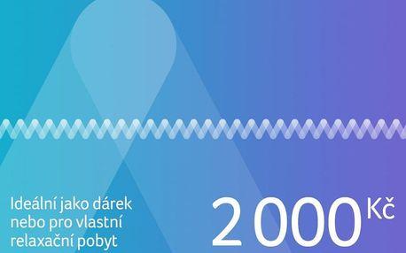 Dárkový poukaz na pobyt v ČR i zahraničí v hodnotě 2 000 Kč Dárkovy poukaz