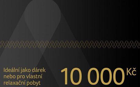 Dárkový poukaz na pobyt v ČR i zahraničí v hodnotě 10 000 Kč Dárkovy poukaz