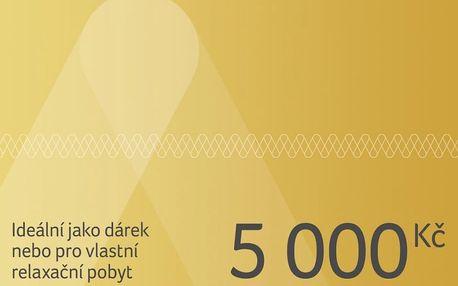 Dárkový poukaz na pobyt v ČR i zahraničí v hodnotě 5 000 Kč Dárkovy poukaz