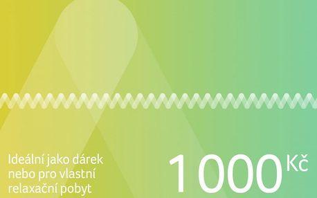 Dárkový poukaz na pobyt v ČR i zahraničí v hodnotě 1 000 Kč Dárkovy poukaz